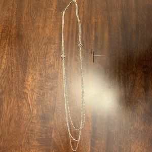 Stella & Dot Layering Necklace (silver)